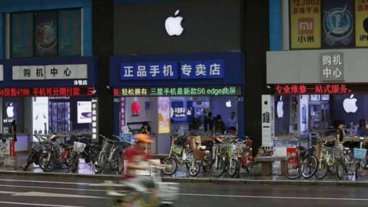 lojas falsas da Apple na China