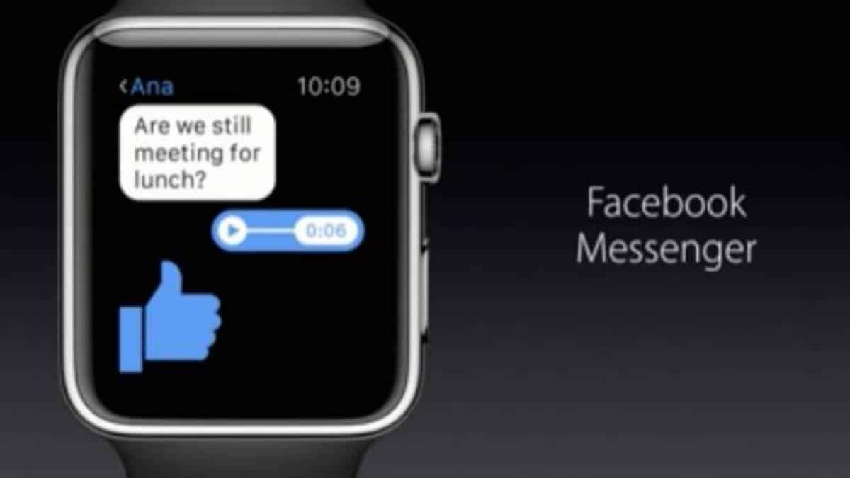 Facebook Messenger para Apple Watch