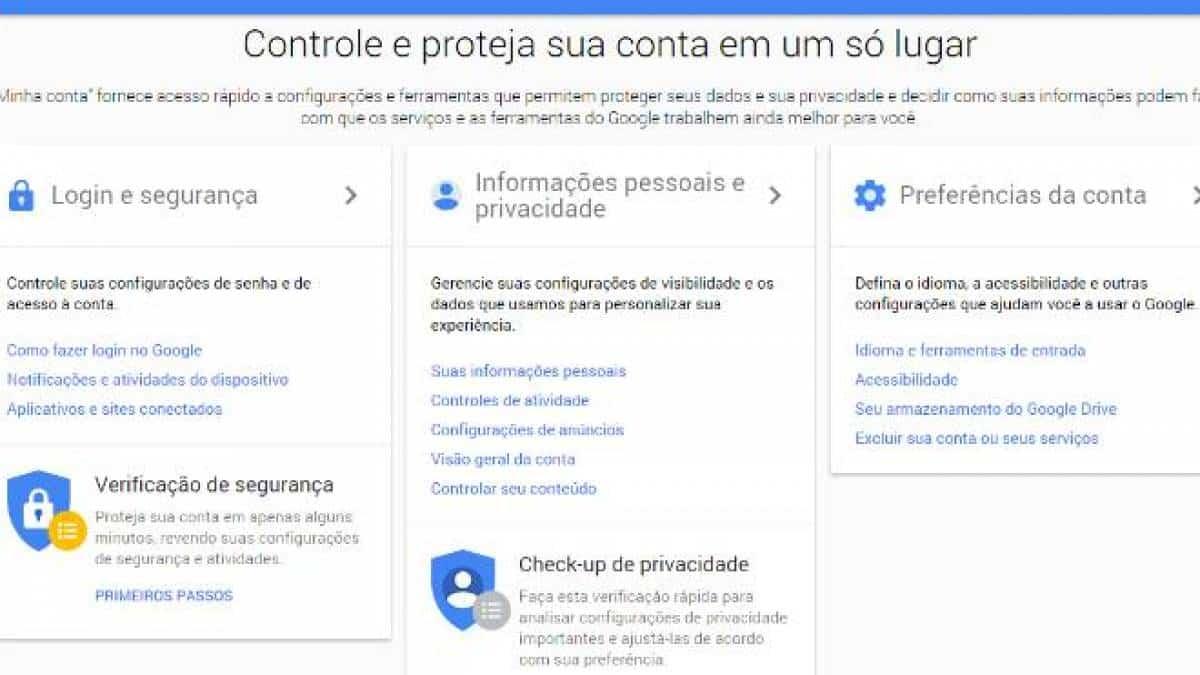 Portal do Google para gerenciar dados pessoais completa um ano e traz  novidades
