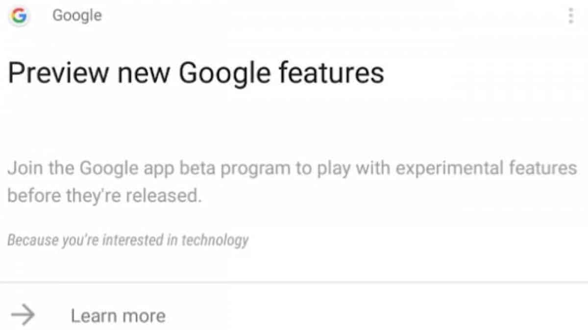 google search beta