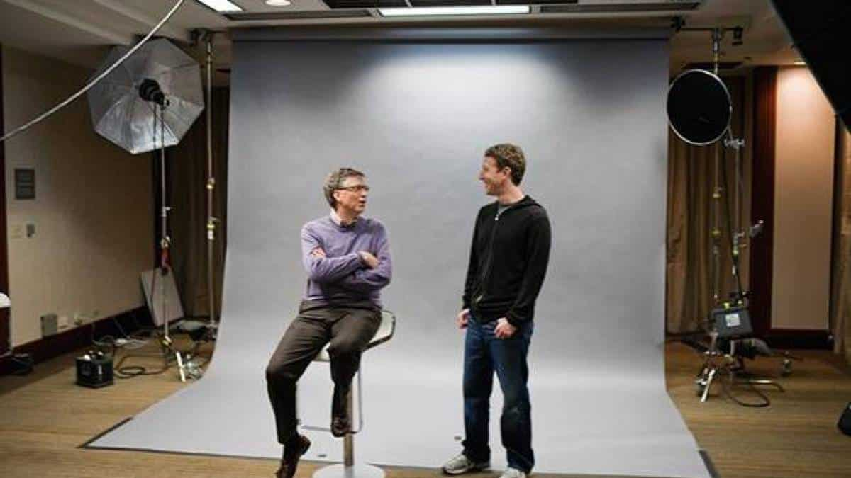 Zuckerberg e Bill Gates