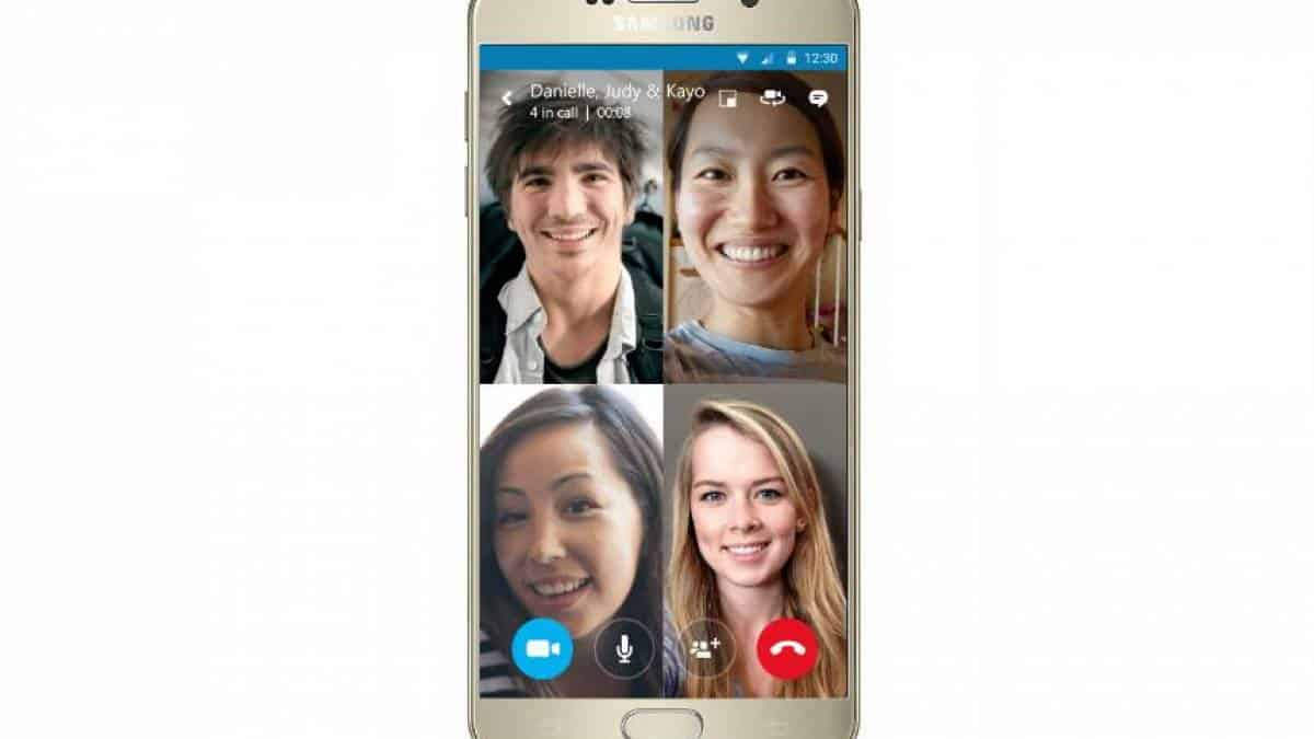 Skype video grupo mobile