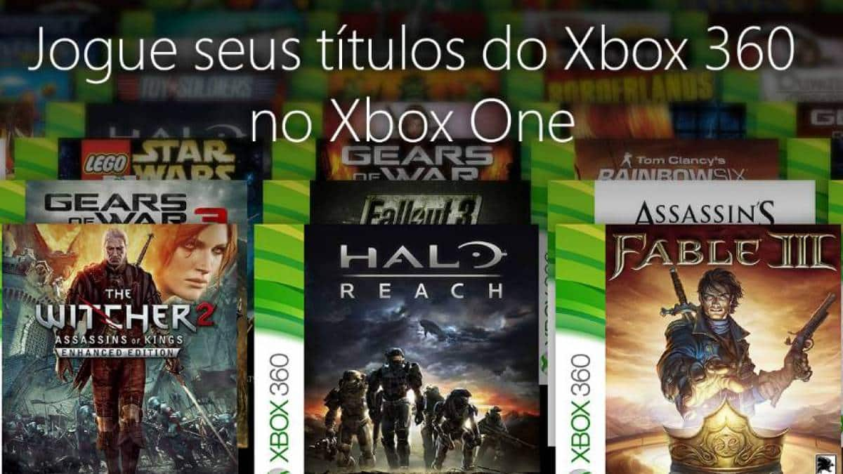 xbox one xbox 360 retrocompatibilidade