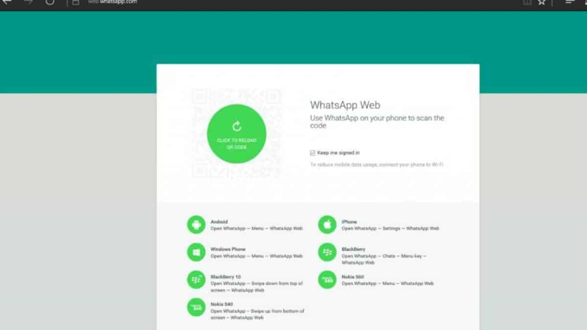 WhatsApp Web Edge