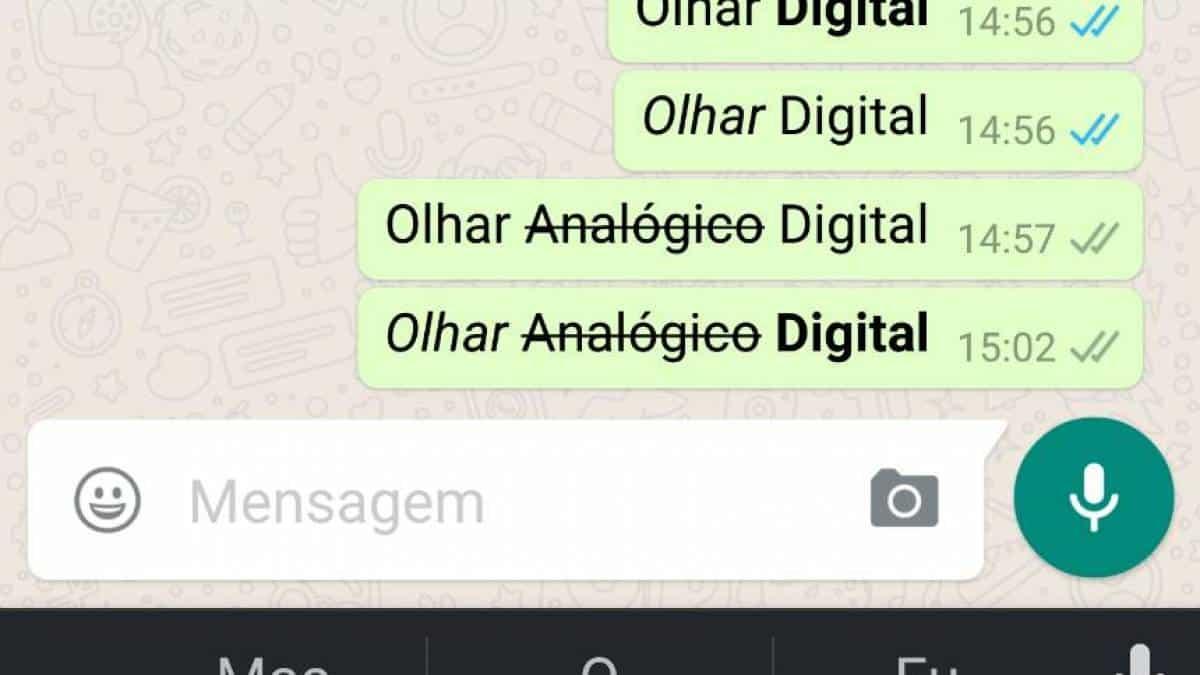 Whatsapp Saiba Como Escrever Em Negrito Itálico Ou Riscado