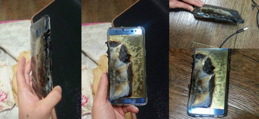 Galaxy Note 7 explodes while charging; see the damage - Olhar Digital