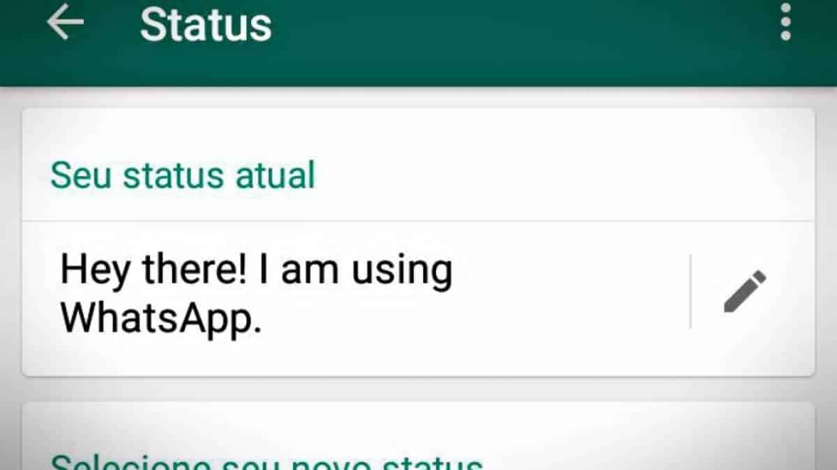 WhatsApp antigo Status