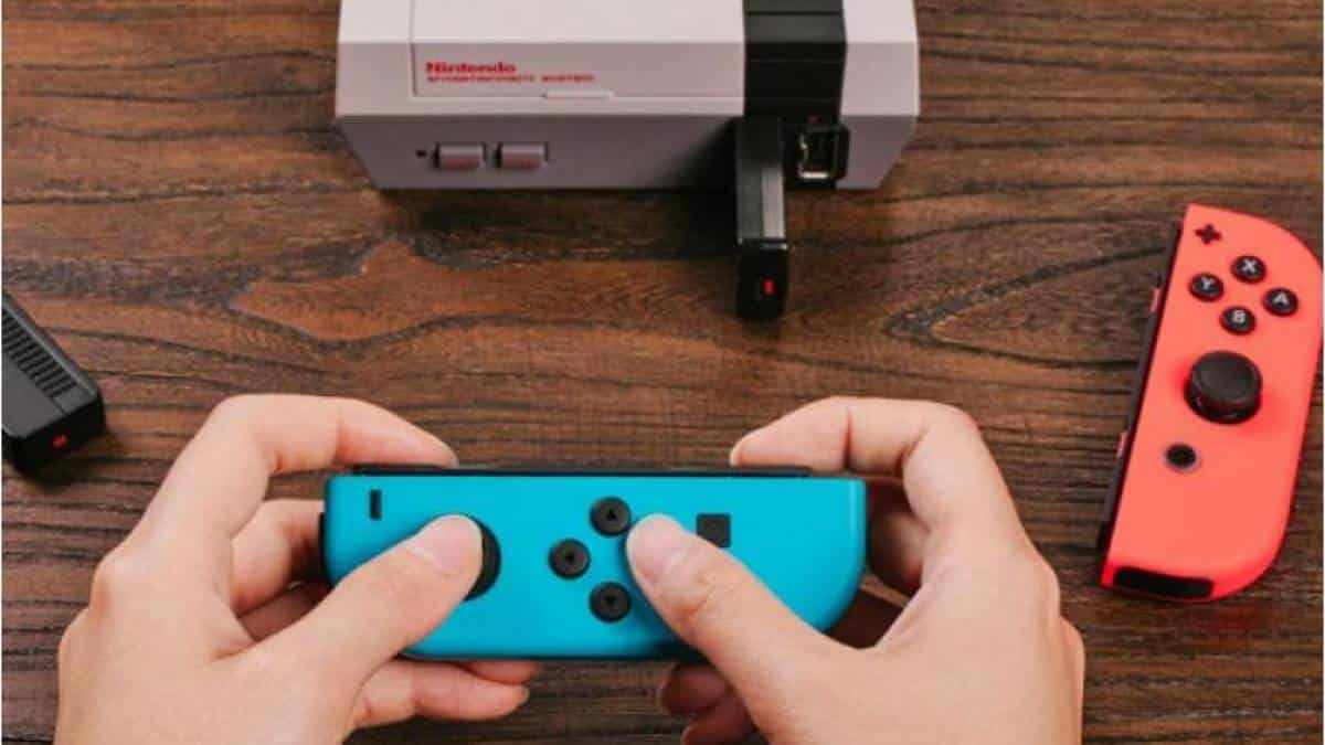 NES com controle do Switch