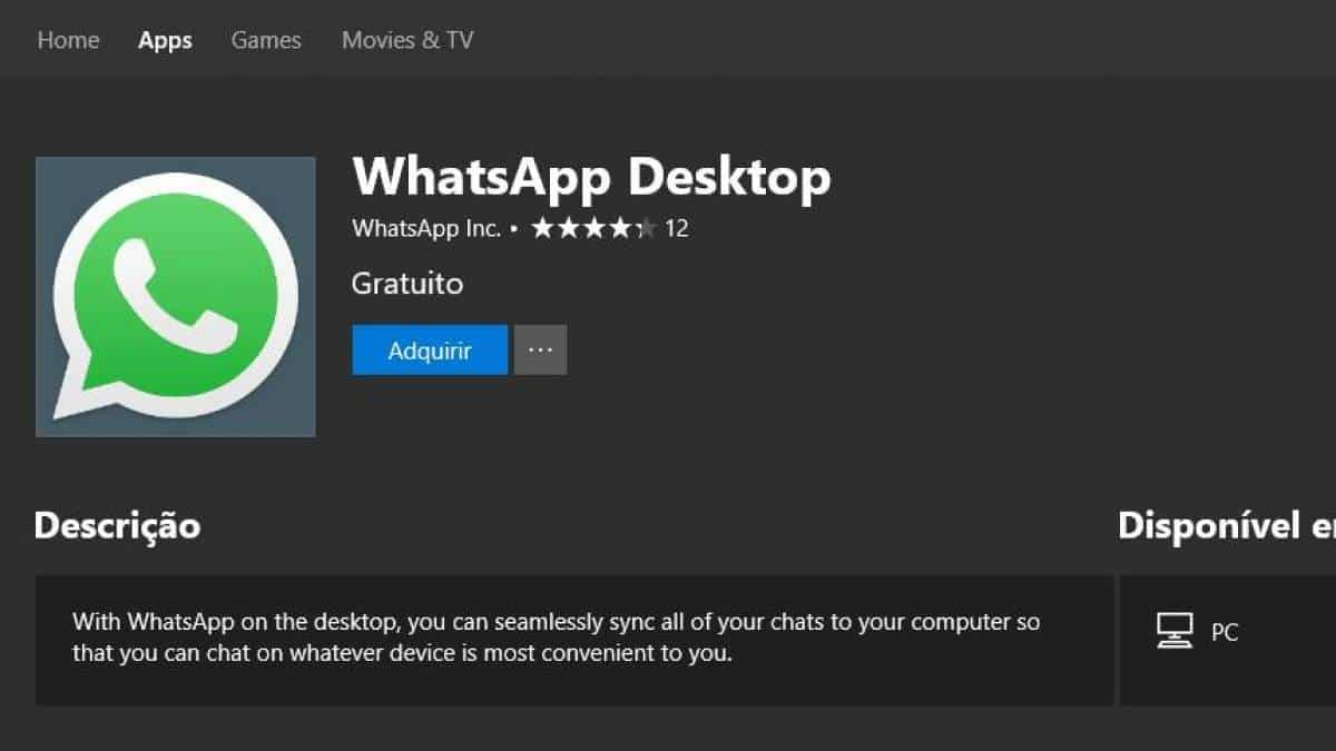 WhatsApp Desktop - Windows Store