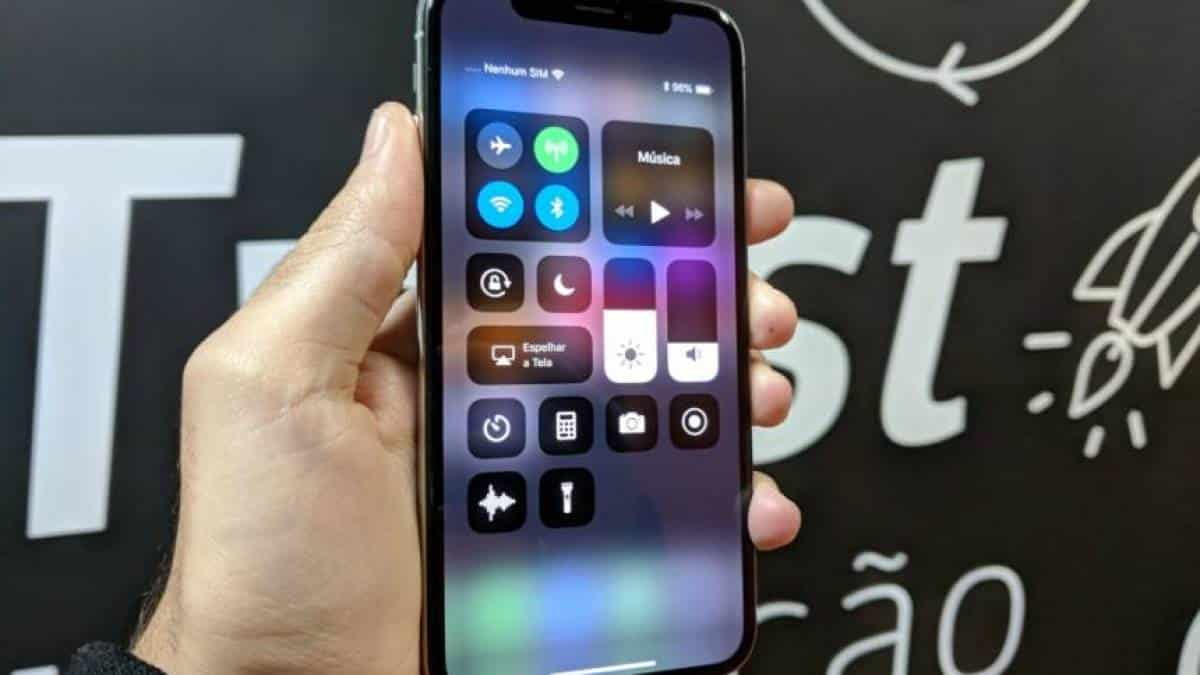 iOS 11 iPhone X Apple Central de Controle