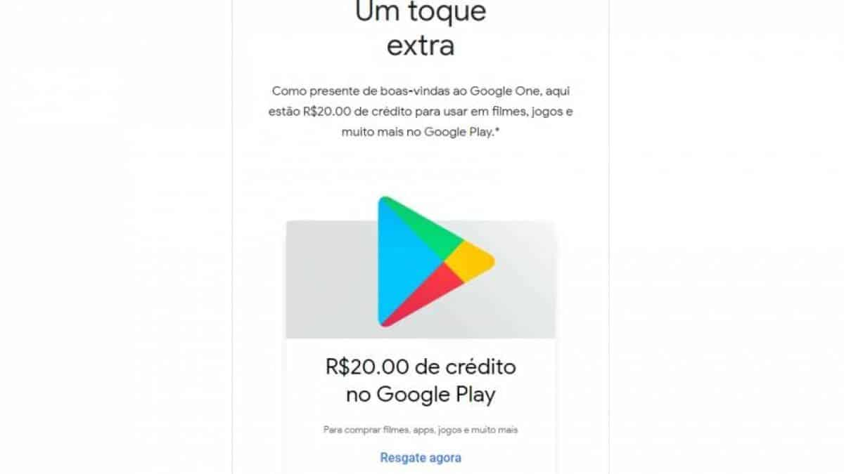 Google One Google Play crédito
