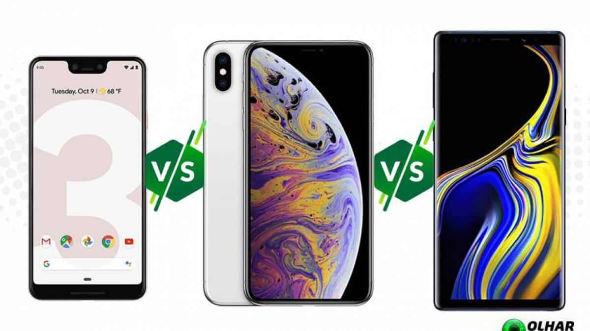Pixel 3 XL vs iPhone XL vs Galaxy Note 9