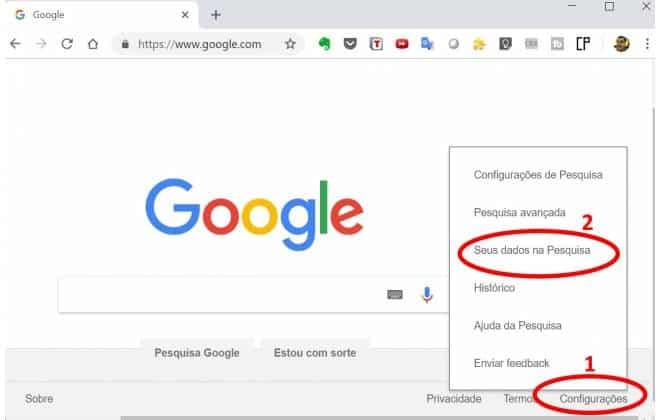 Como apagar o historico do google no pc