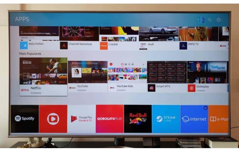 Review da smartv TV Samsung UN65NU-7400: telona com muitos