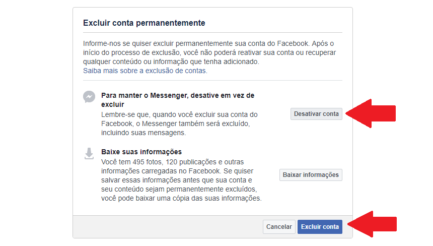 Como Desativar Ou Excluir Definitivamente Sua Conta Do Facebook