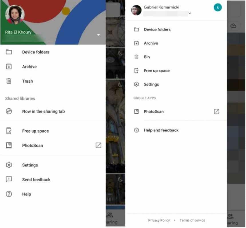 Google Fotos ganha menu atualizado sem tradicional foto de capa