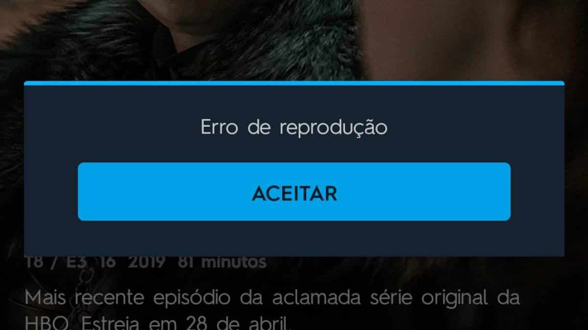 HBO Go erro durante GoT