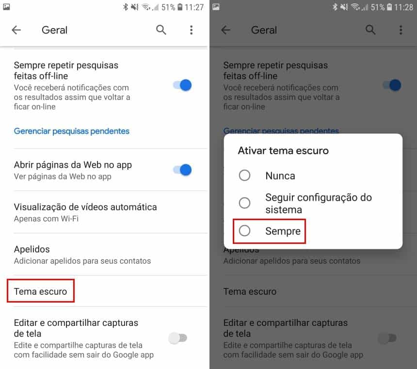 Como Ativar O Tema Escuro Do Google No Android Olhar Digital