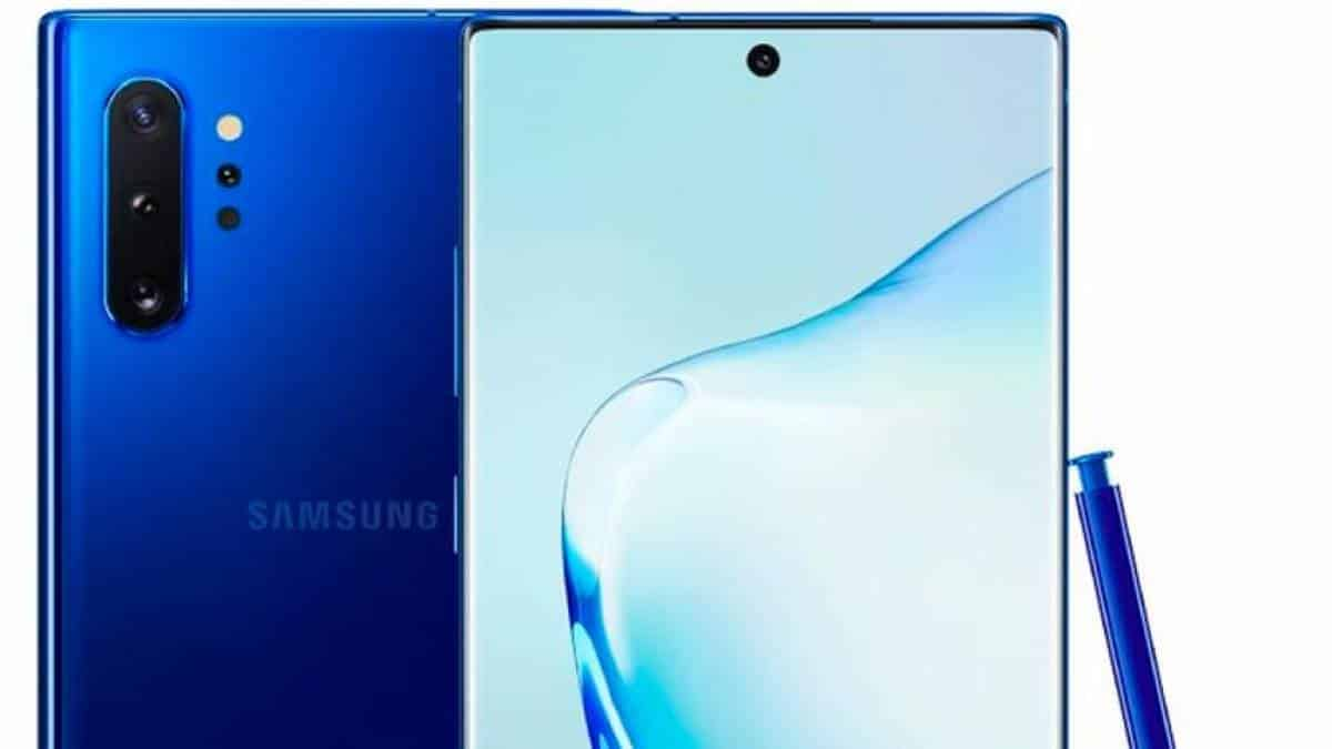 Galaxy Note 10 azul