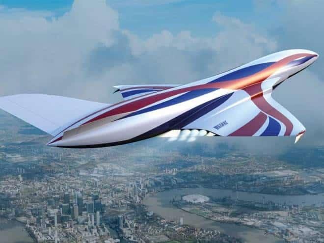 Avião hipersônico vai viajar de Londres aos EUA em menos de uma hora