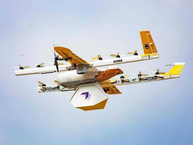 Drones começam a fazer entregas comerciais nos EUA