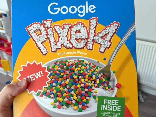 Google entrega Pixel 4 em embalagem de cereal!
