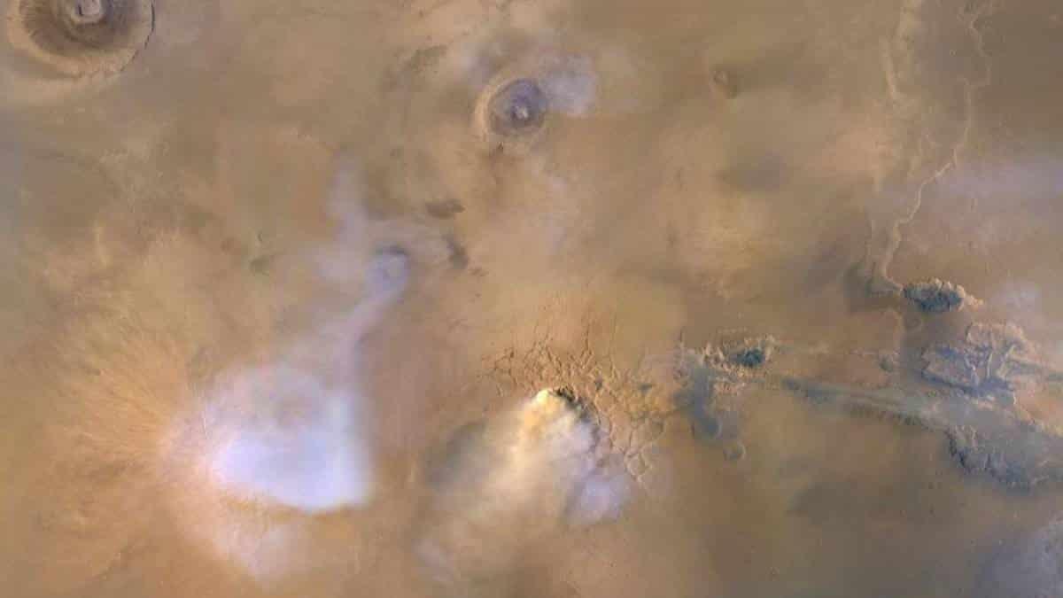 Torres de poeira em Marte
