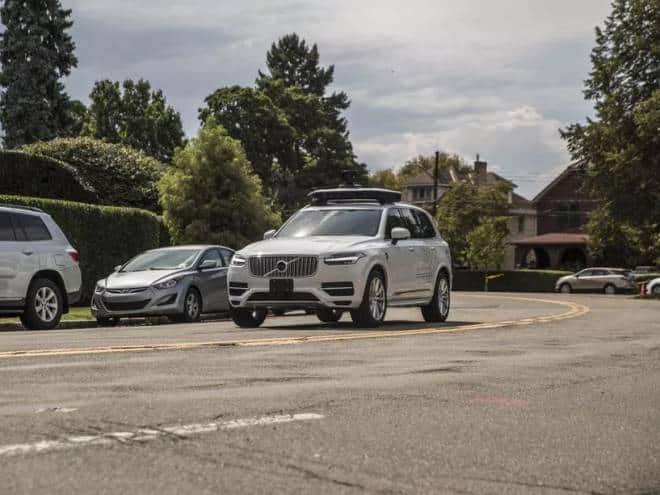 Uber leva carros autônomos para Washington