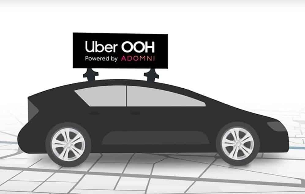 Uber vai pagar motoristas por publicidade no teto dos carros