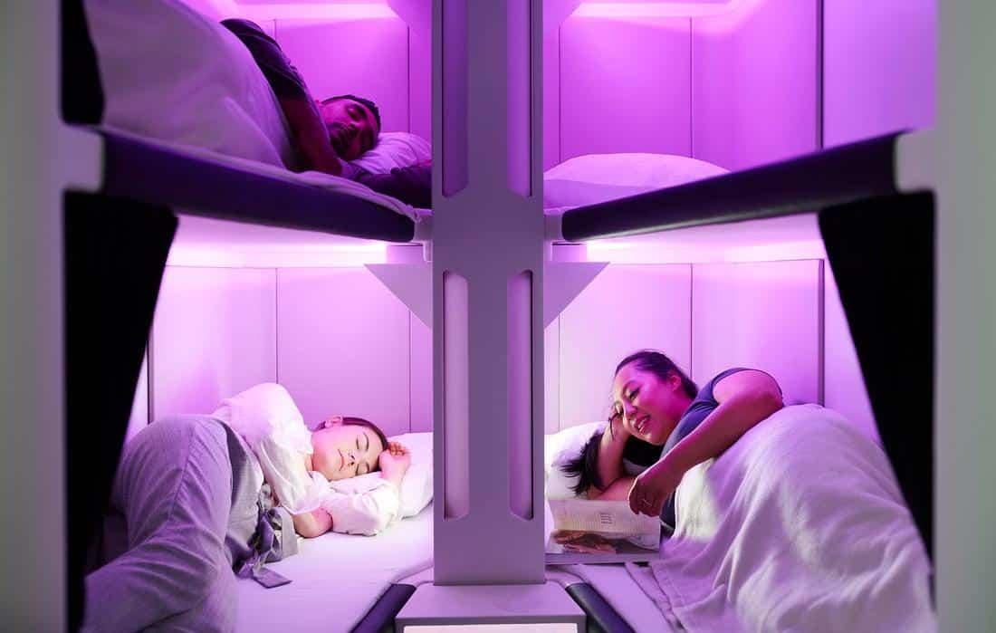 Classe econômica vai ter camas para os passageiros