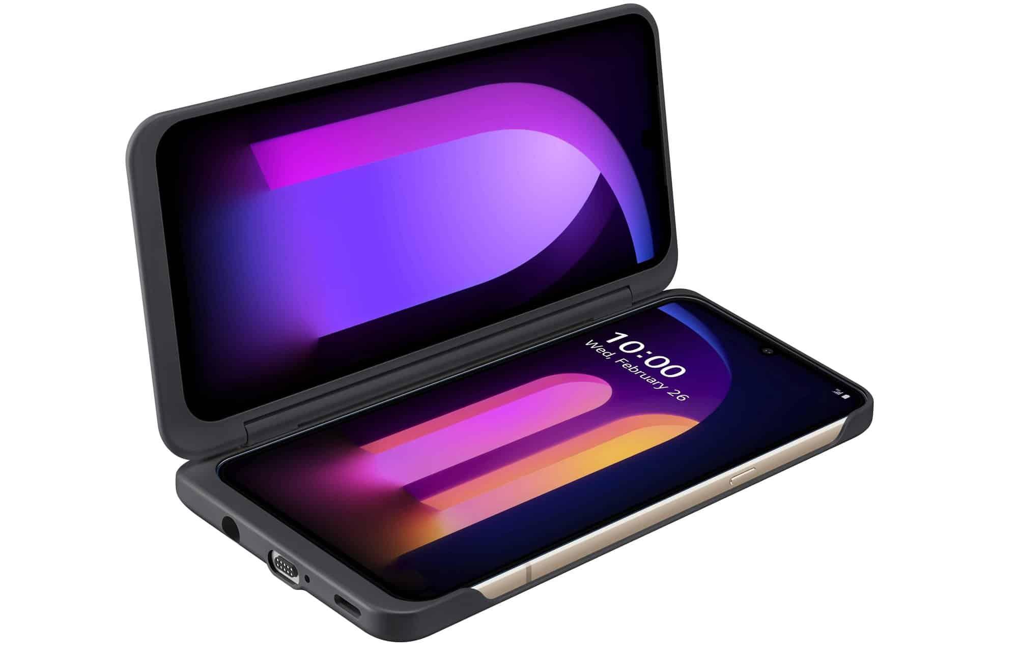 LG revela V60 ThinQ com bateria de 5.000 mAh e acessório para tela dupla