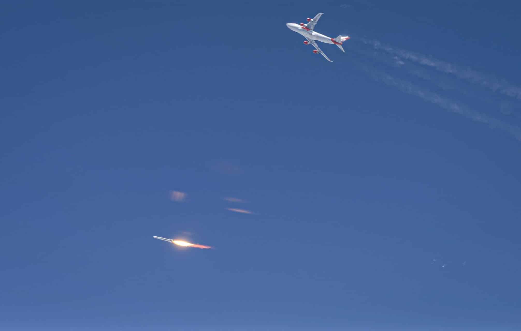 Virgin Orbit falha em seu primeiro teste de lançamento de foguete