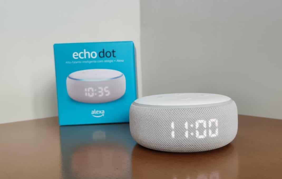 Review do Echo Dot com relógio: uma ótima opção de smart speaker