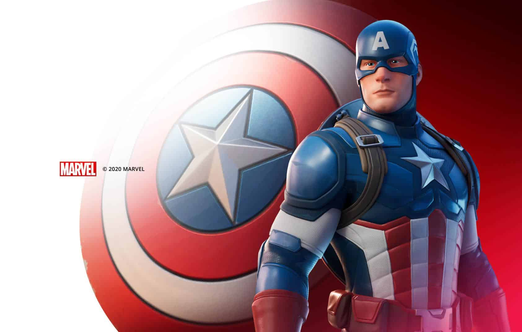 Capitão América está disponível em Fortnite