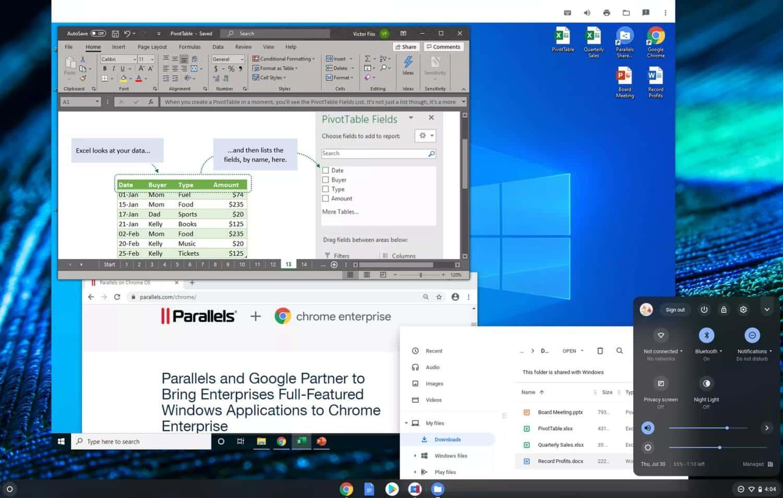 Saiba como os aplicativos do Windows vão funcionar em Chromebooks