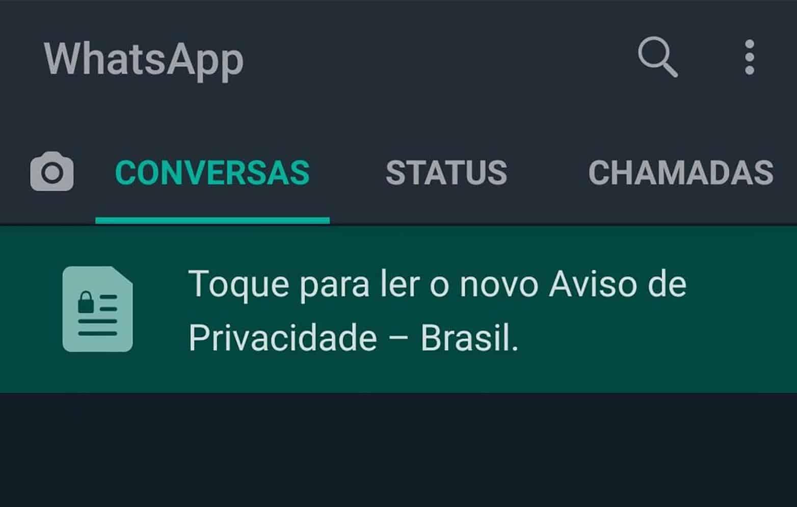 WhatsApp emite 'Aviso de Privacidade' para usuários brasileiros