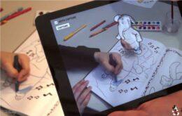 Disney cria app de realidade aumentada para livros de colorir