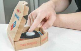 Pizzaria leva pizza até a casa do cliente com o apertar de um botão