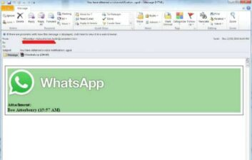 Virus se disfraza de correo electrónico de WhatsApp para infectar a los usuarios