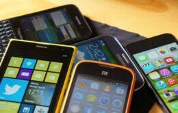 Mercado de smartphones atinge menor crescimento de vendas da história
