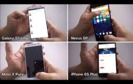 Teste de velocidade coloca iPhone 6s Plus e Galaxy S7 frente a frente