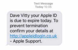 Estafa intenta robar información de usuarios de iPhone a través de ID de Apple