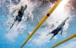 Confira como são tiradas as fotos das competições de natação nas Olimpíadas