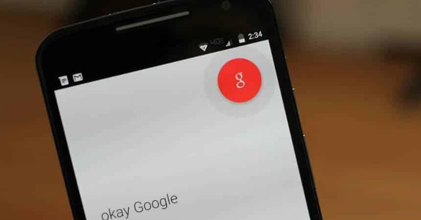 Tela de celular com os dizeres okay google
