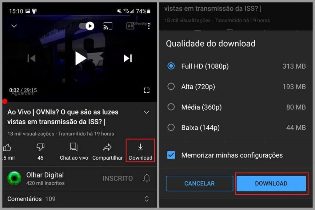 Como fazer download de vídeo no YouTube Premium