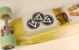 Skate elétrico é alimentado pelo Raspberry Pi e pode atingir até 30 km/h