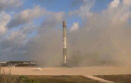 Após missão militar, SpaceX faz foguete pousar em segurança pela quarta vez