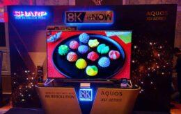 Sharp anuncia TVs 8K que devem custar mais de R$ 28 mil