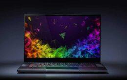 Razer anuncia novo notebook gamer com tela 4K e 1,68 cm de espessura