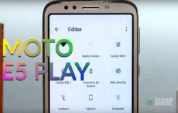 Testamos o Moto E5 Play: conheça o novo celular da Motorola